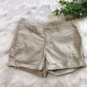 Elle Chino Khaki Shorts Size 2
